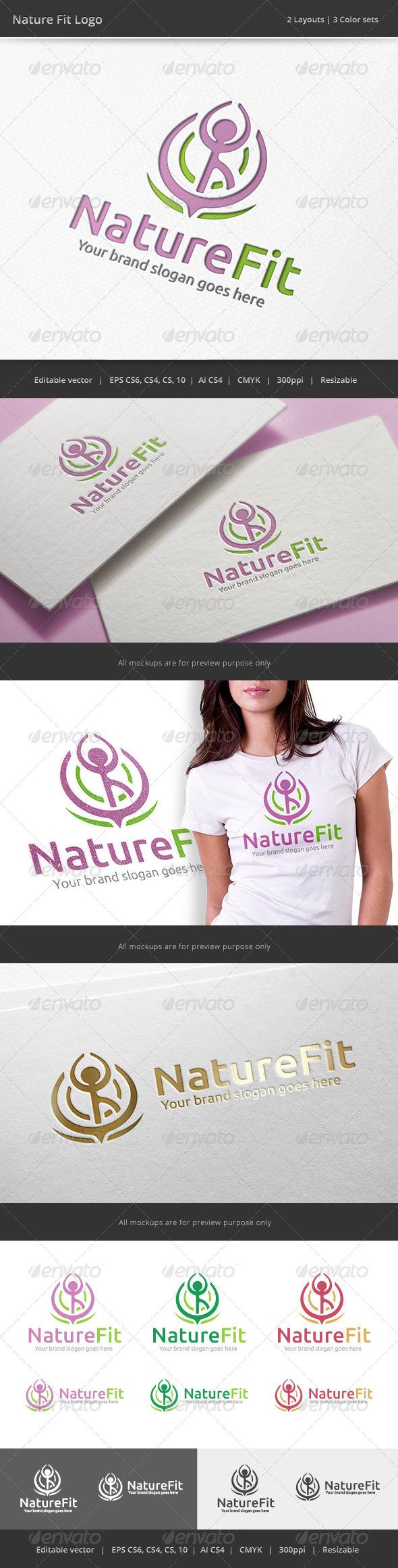 GraphicRiver Nature Fit Logo 8008945