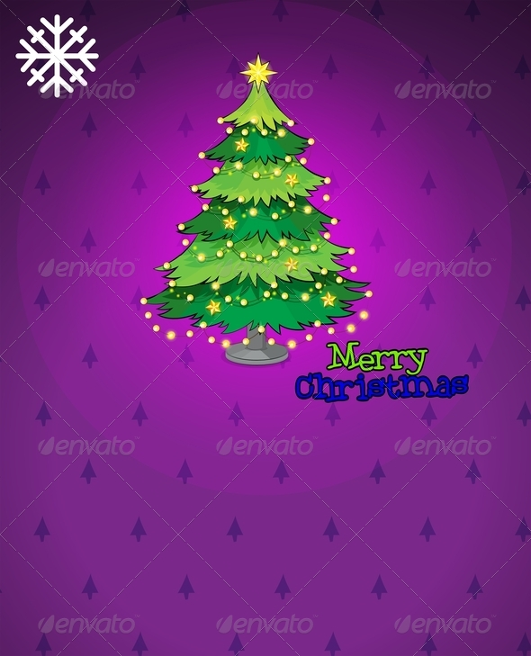 Violet Christmas Card