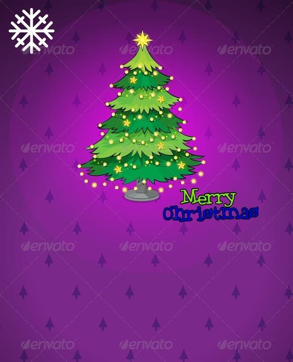 GraphicRiver Violet Christmas Card 8008958