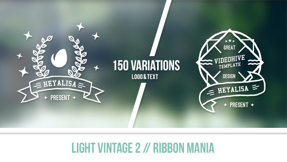 Light Vintage 2 Ribbon Mania
