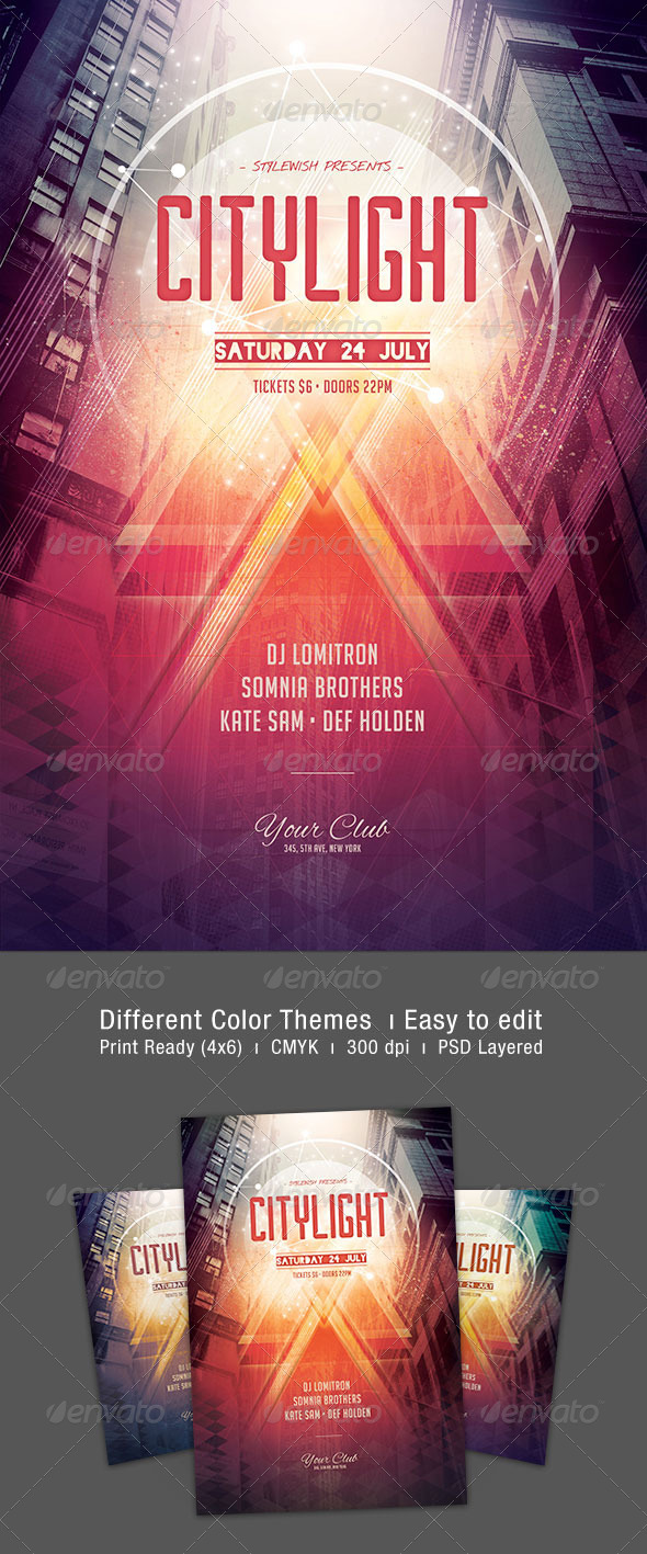 GraphicRiver City Light Flyer 8009361