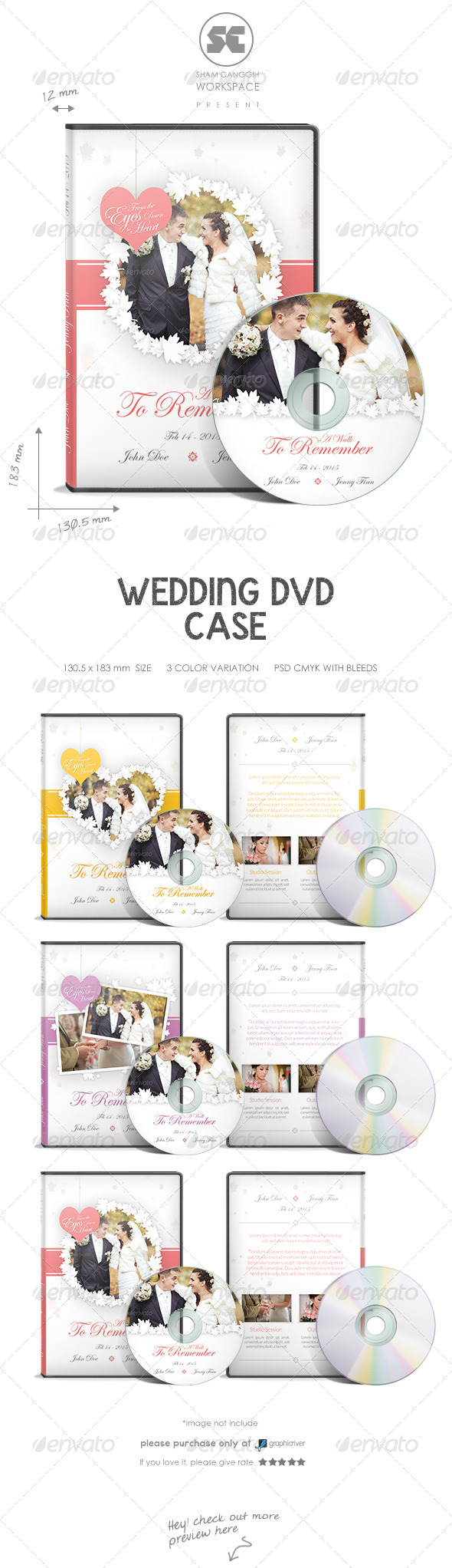 GraphicRiver Wedding DVD Case 8009450