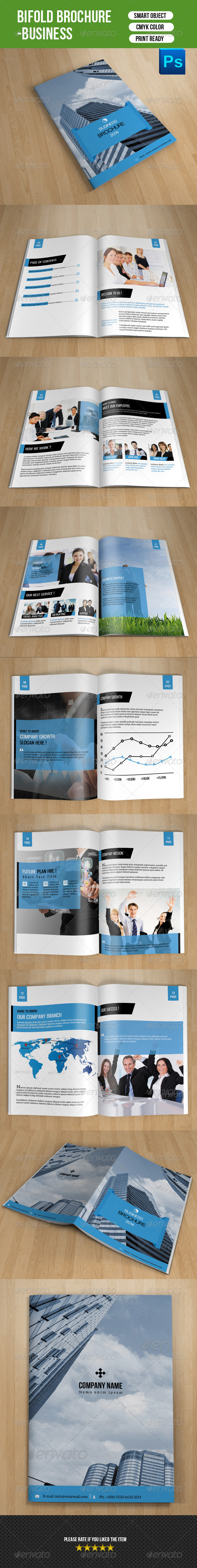 GraphicRiver Bifold Business Brochure-V58 8009510