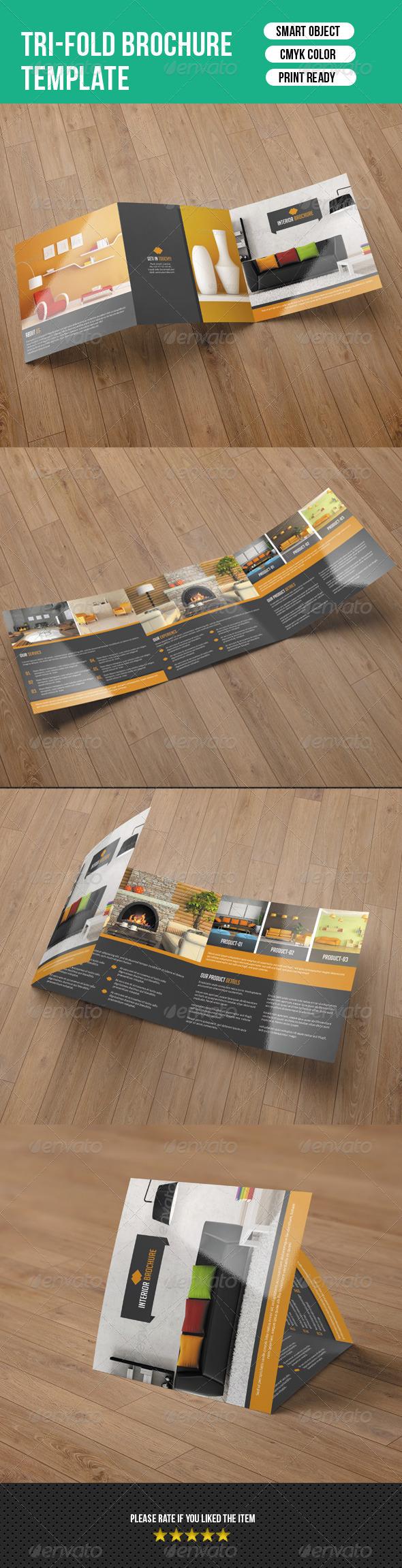 GraphicRiver Square Trifold for Interior-V06 8009521