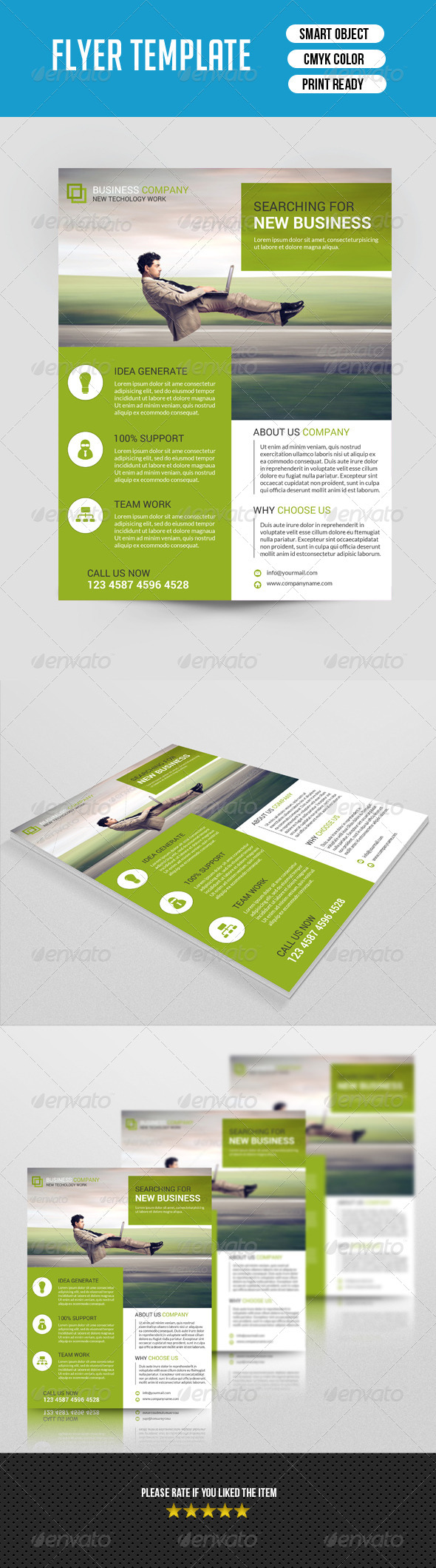 GraphicRiver Business Flyer Template-V50 8009576