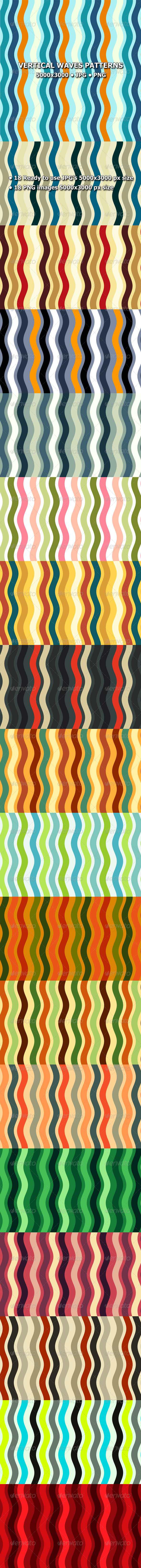 GraphicRiver Vertical Waves Patterns 8009615