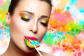 Sweet Pleasure. Colorful Makeup - PhotoDune Item for Sale
