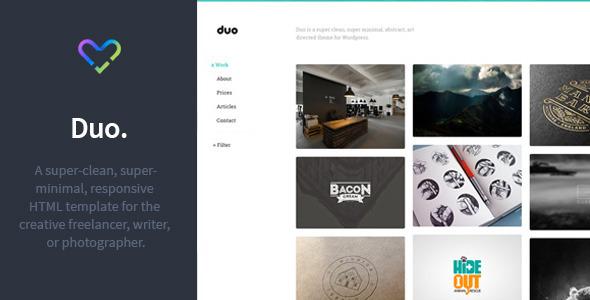 Duo - Unique Minimal Responsive HTML Template - Portfolio Creative