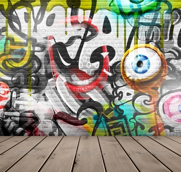 GraphicRiver Graffiti on Wall 8009760