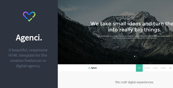 Agenci - One Page Responsive HTML Template