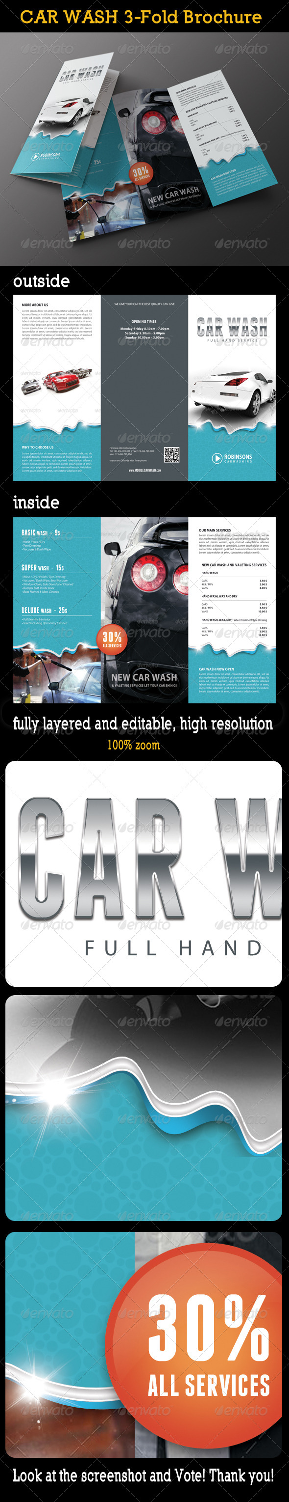 GraphicRiver Car Wash 3-Fold Brochure 02 8009810