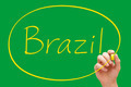 Brazil Handwriting Yellow Marker - PhotoDune Item for Sale