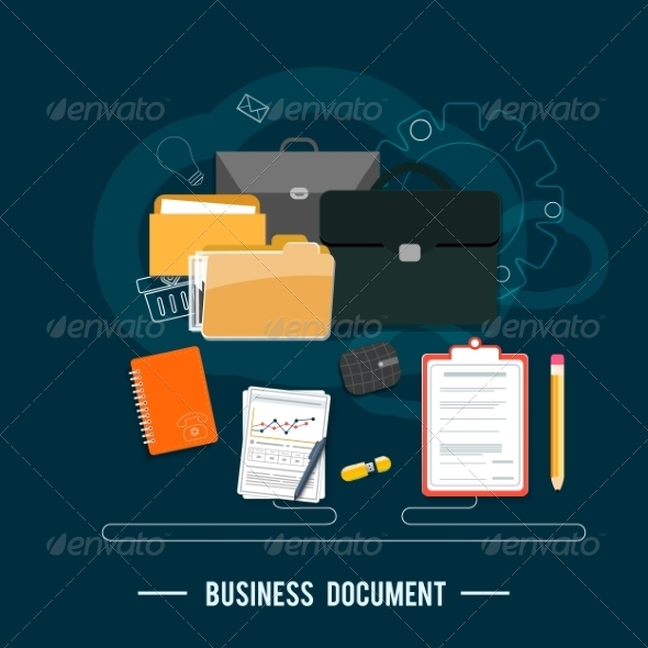 GraphicRiver Business Documents Concept 8010065