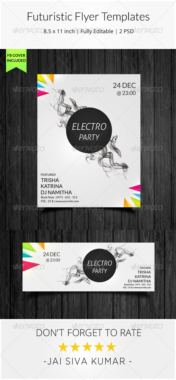 GraphicRiver Futuristic Flyer Templates 8010076