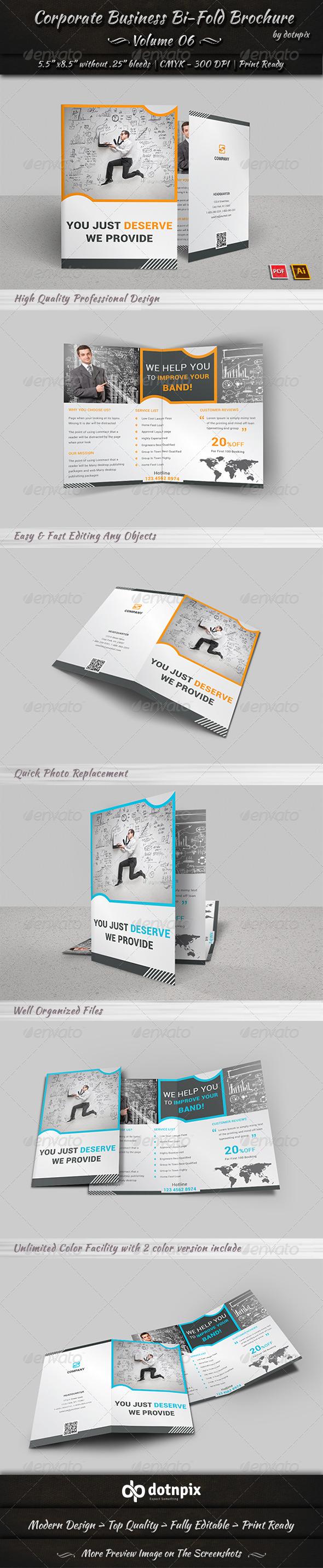 GraphicRiver Corporate Business Bi-Fold Brochure Volume 6 8010080