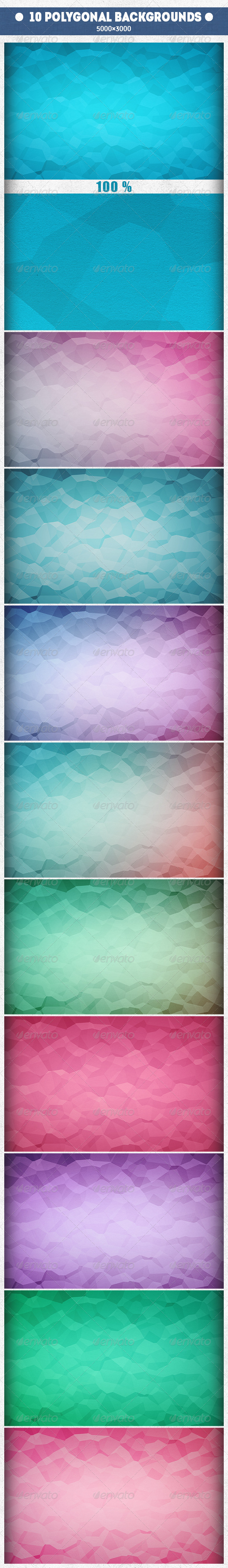 GraphicRiver 10 Triangular Backgrounds 8010102