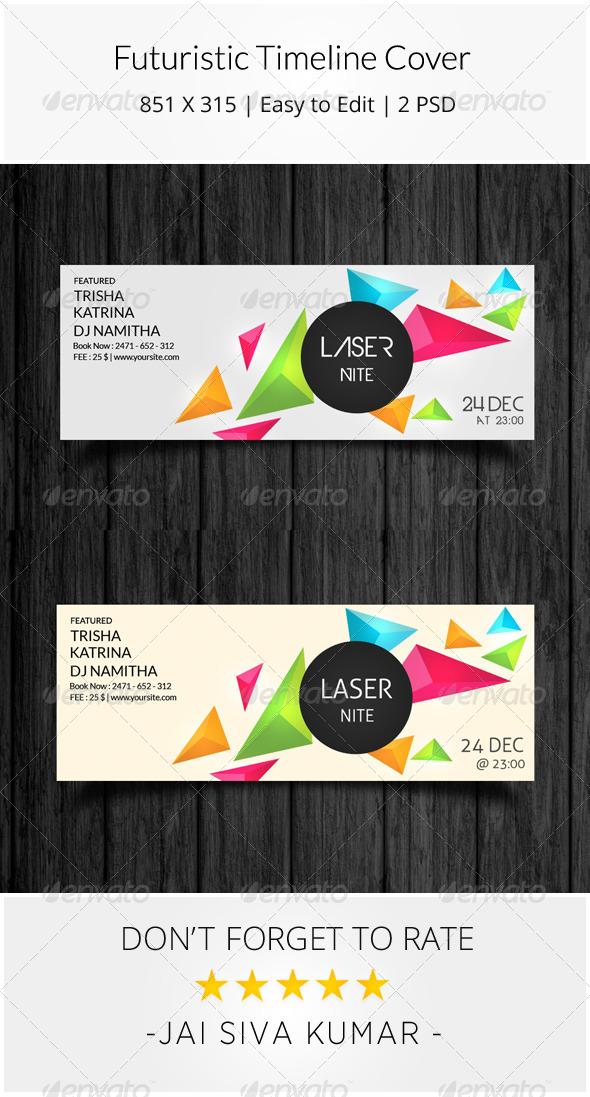 GraphicRiver Futuristic Timeline Cover 8010189