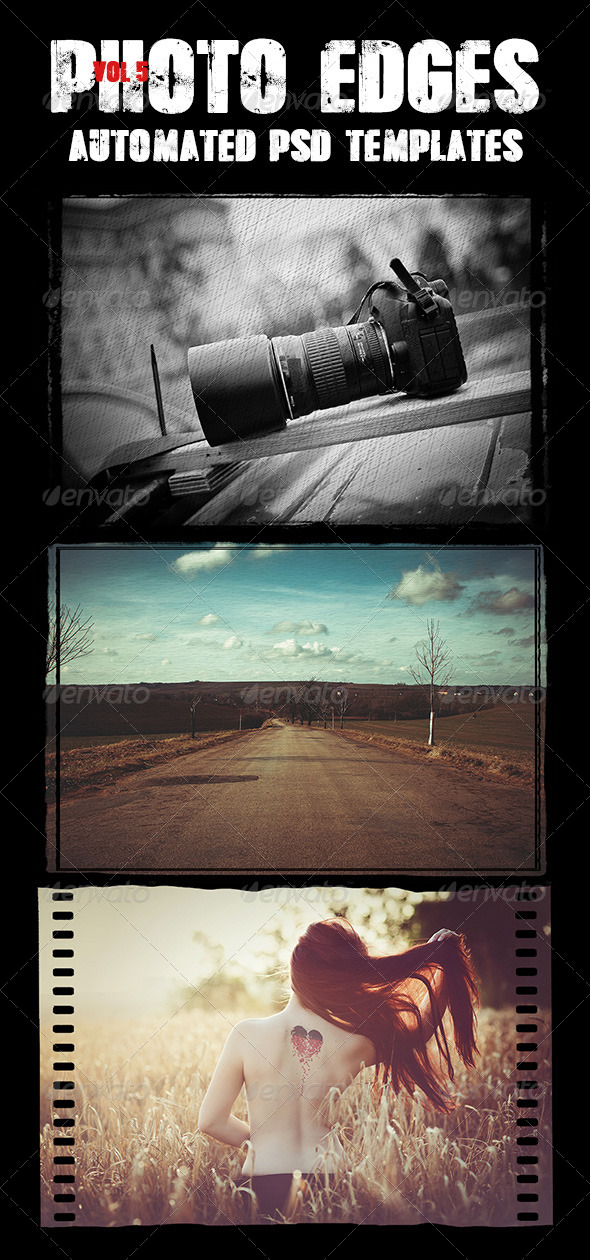GraphicRiver Cool Photo Edges Automated PSD Templates Vol 5 8010285