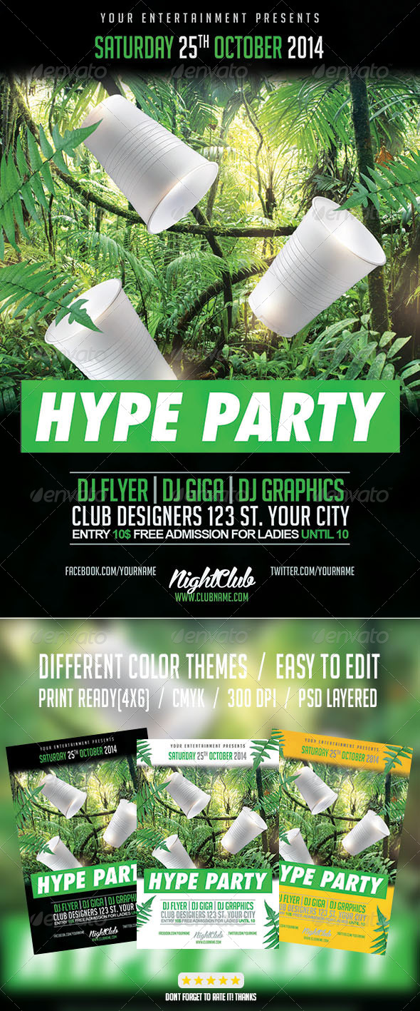 GraphicRiver Hype Hip Hop Party Flyer 8010283