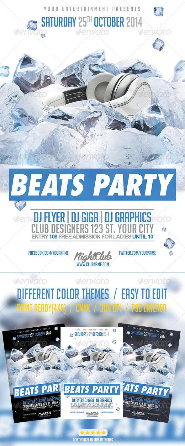 GraphicRiver Hip Hop Beats Party Flyer 8010314