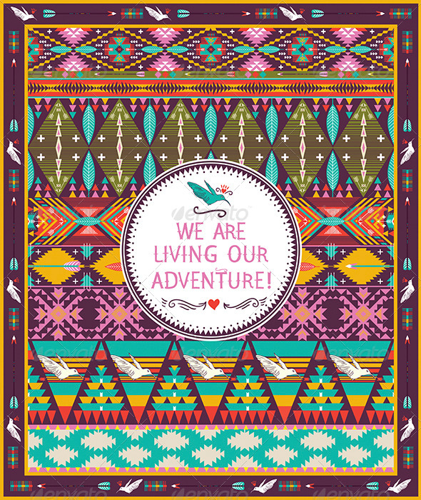 GraphicRiver Seamless Pattern in Native American Style 8010318