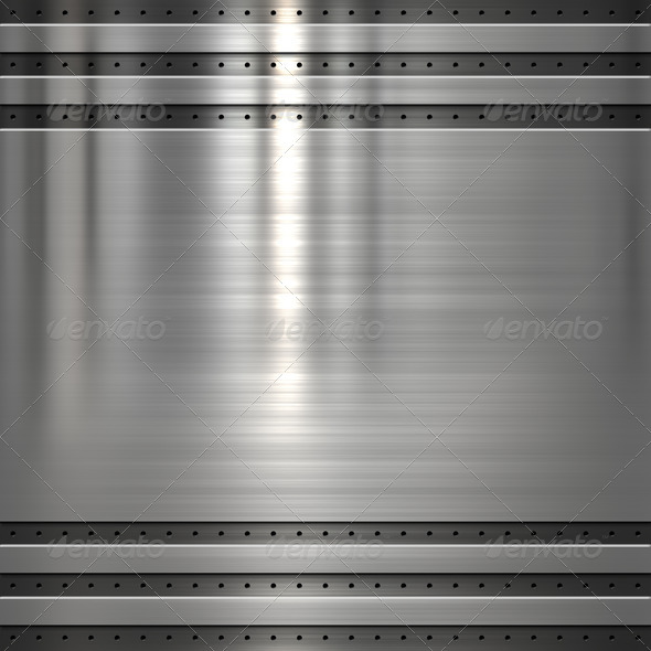 Metal plate background - Stock Photo - Images