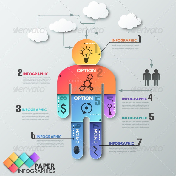 GraphicRiver Paper Infographic Template With Man 8010658