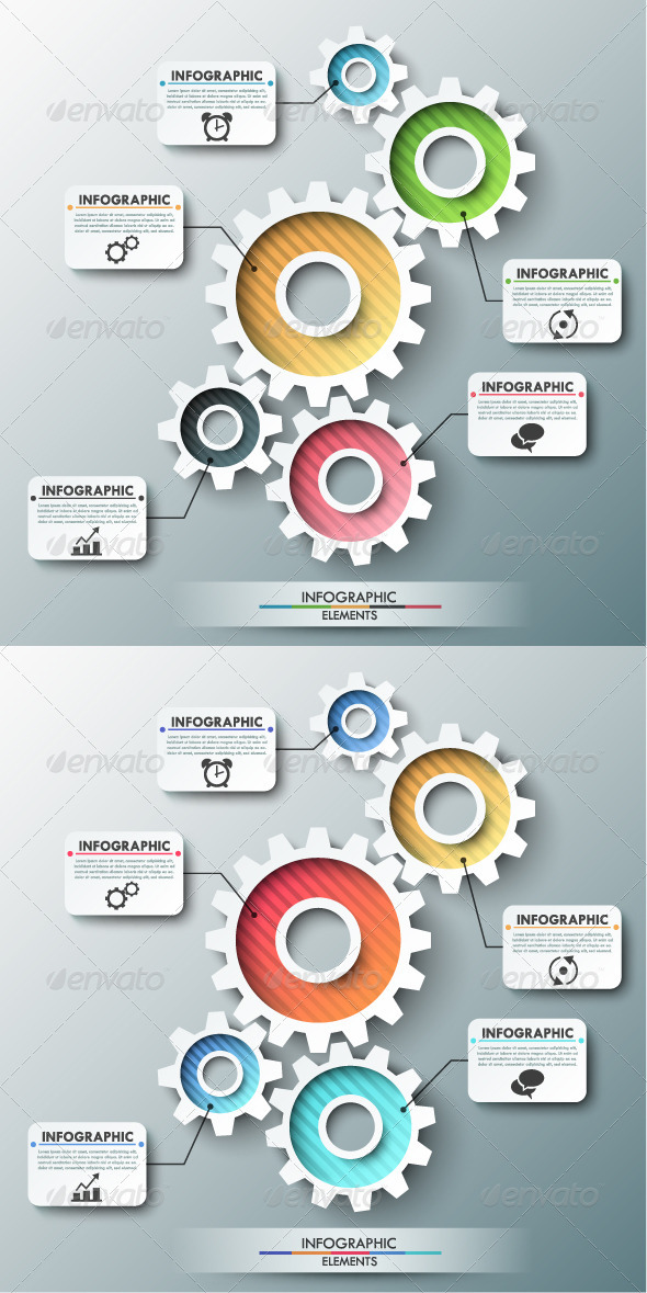 GraphicRiver Modern Infographic Template With Gear Chain 8010712