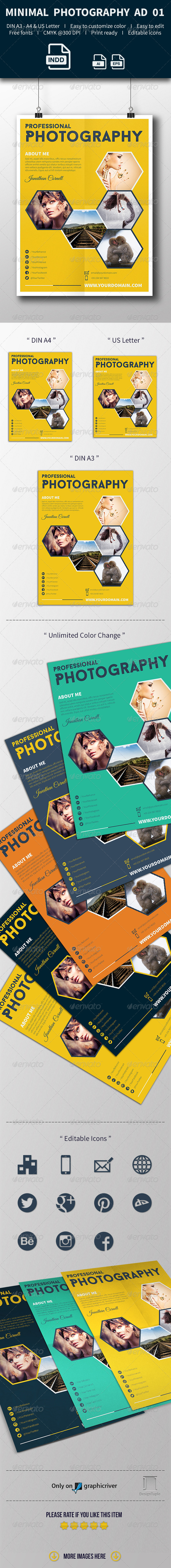 GraphicRiver Get Minimal Photography Ad Template 01 8010852
