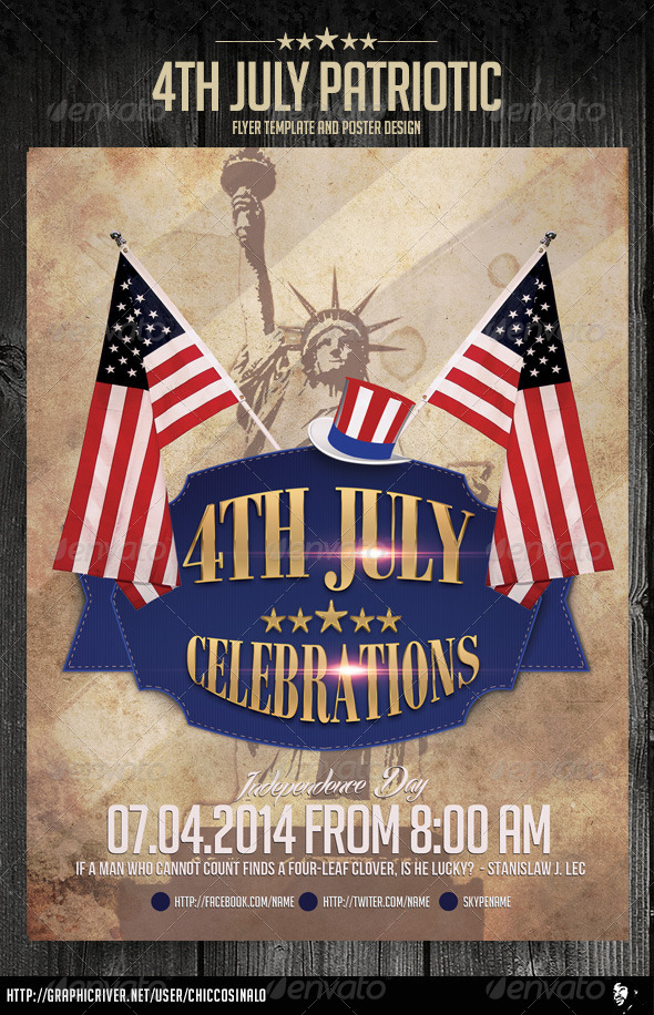 GraphicRiver 4th July Patriotic Flyer Template 7940240
