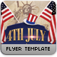4th July Patriotic  Flyer Template - GraphicRiver Item for Sale