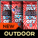 Fourth of July Sale Outdoor Banner Pack - GraphicRiver Item for Sale