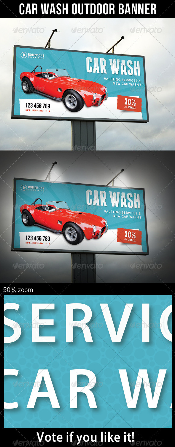 GraphicRiver Car Wash Outdoor Banner 03 8010902