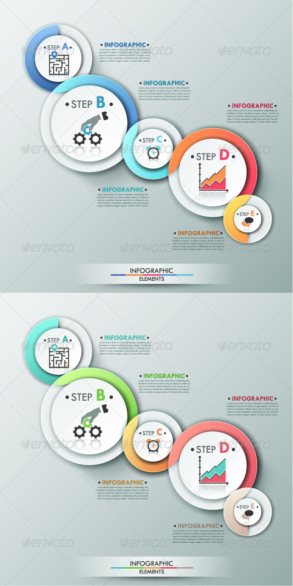 GraphicRiver Modern Infographic Process Template 2 Versions 8010909