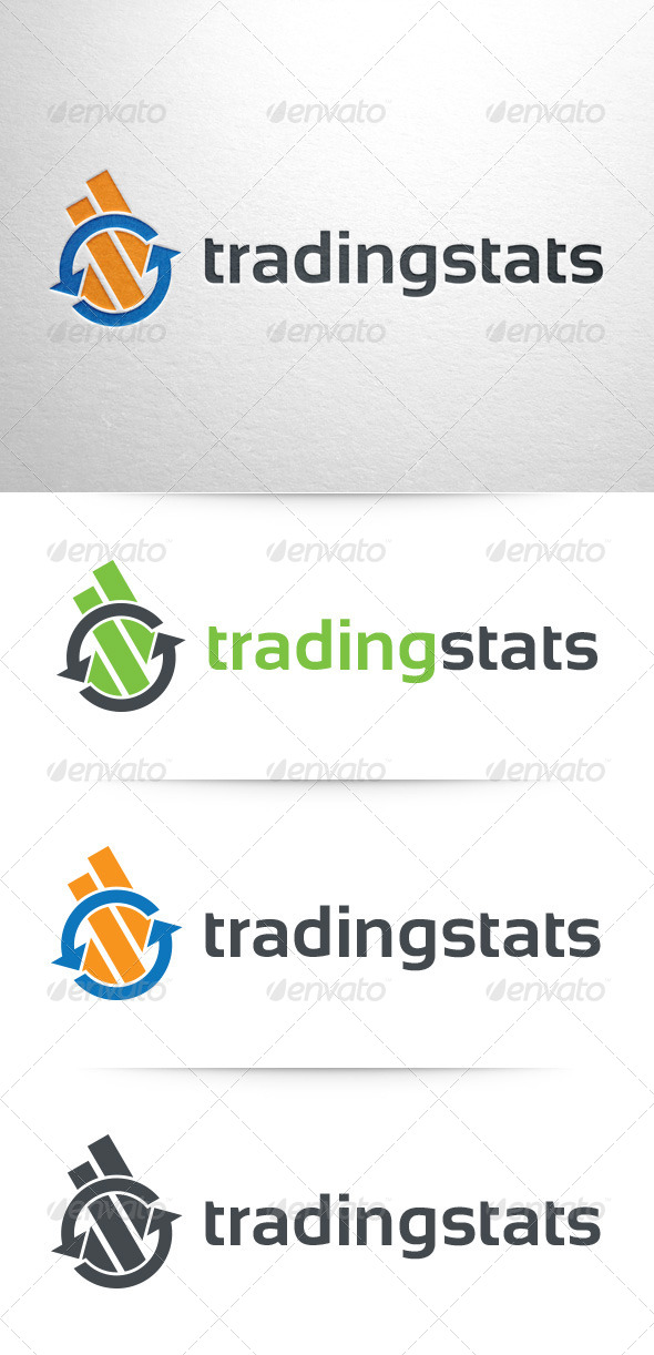 GraphicRiver Trading Stats Logo Template 8011055