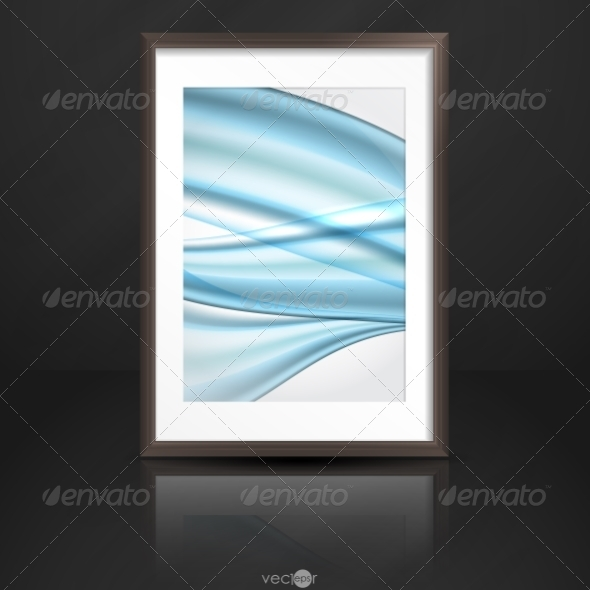 GraphicRiver Wood Shelf With Photo Frame 8011119