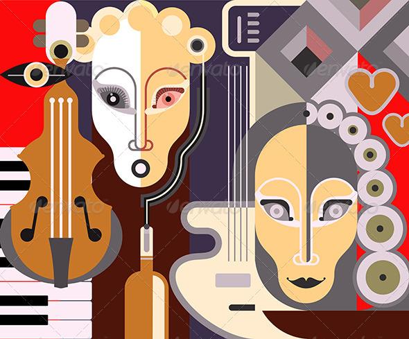 GraphicRiver Abstract Fine Art Portrait 8011242