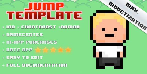 CodeCanyon Jump Template iAd Chartboost AdMob 8011246