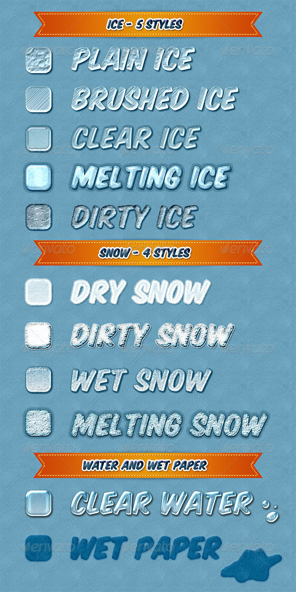 GraphicRiver Ice and Snow Thawing on Paper 7973990