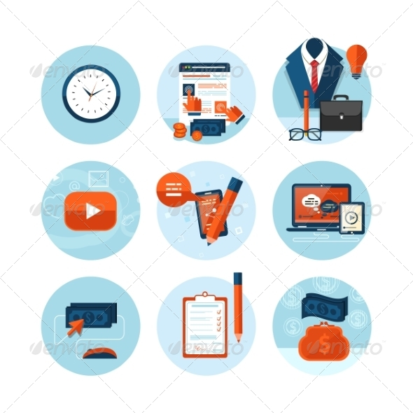 GraphicRiver Business Office and Marketing Items Icons 8011278