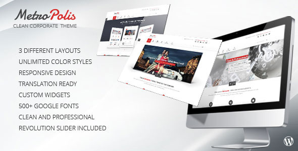 Metropolis - Clean Multipurpose Wordpress Theme - Portfolio Creative