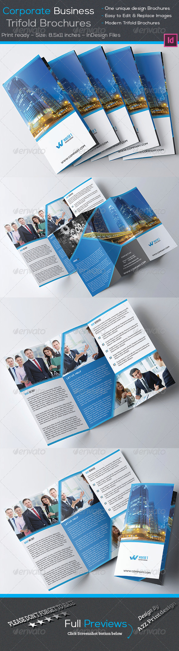 GraphicRiver Corporate Trifold Brochures 8011612
