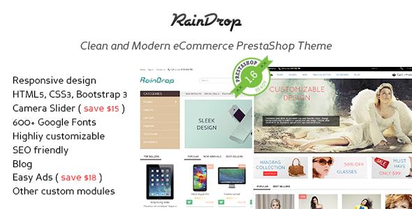 RainDrop - PrestaShop 1.6 & 1.5 Responsive Theme
