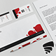 Red Circles Stationary Pack - GraphicRiver Item for Sale