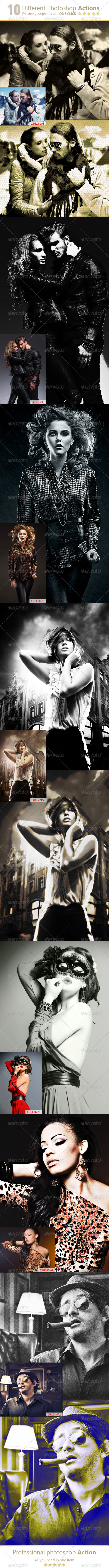 GraphicRiver 10 Different Photoshop Actions 8011791