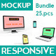 Multi Devices Responsive Mockups Bundle - GraphicRiver Item for Sale