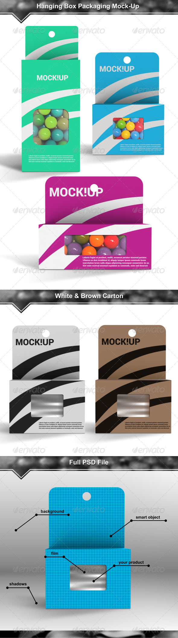 Hanging Box Packaging Mock-Up