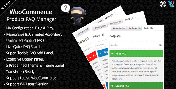 CodeCanyon WooCommerce Product FAQ Manager 8011992