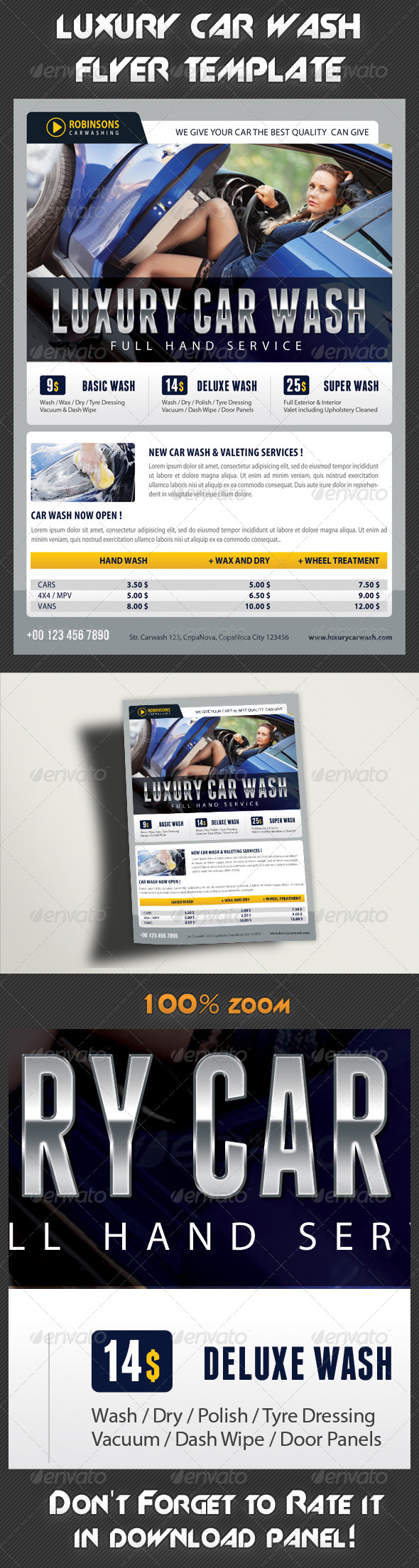 GraphicRiver Car Wash Flyer 04 8012039