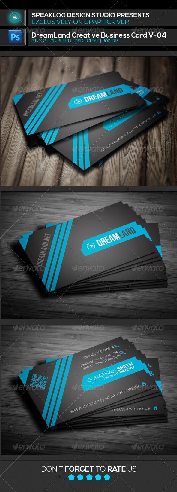 GraphicRiver Dreamland Creative Business Card v-03 8012066